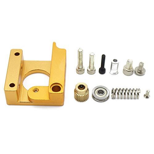 Gaddrt DIY MK7 MK8 i3 Extruder Aluminum Block Built-in Frame Fulcrum Screw Gear Spring Idler Wheel Kit for 3D Printer (A)
