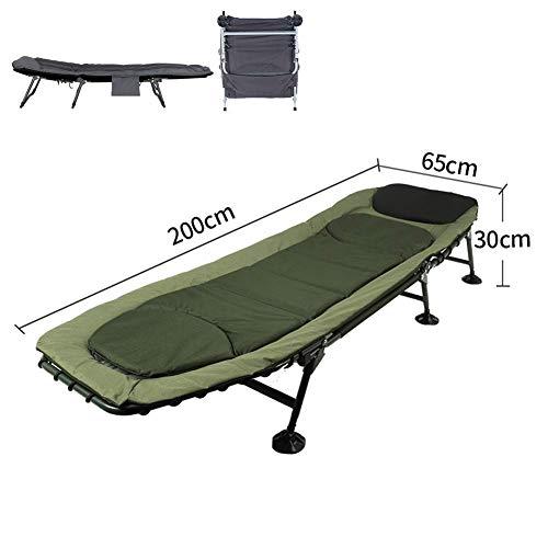ZHUAN Klappbare Liegestühle Superweiche Camping-Liege, Sonnenliege 6-Bein-Sonnenliege Karpfenbett Gartenbett, Campingstuhl Kopf 5 Position F.