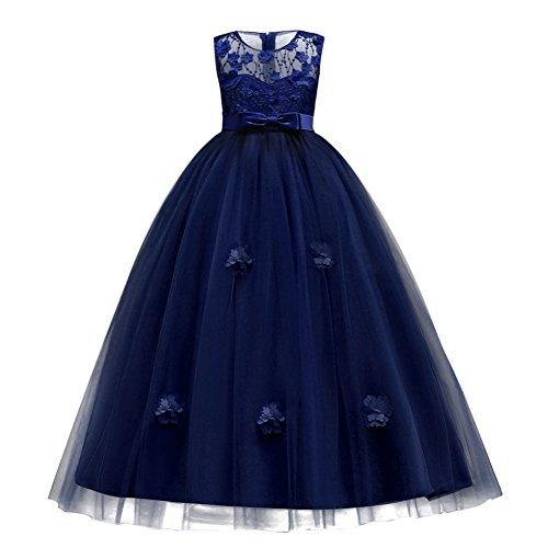 FYMNSI Kinder Abendkleider Mädchen Lang Partykleid Prinzessin Tüllkleid Blumenmädchen...