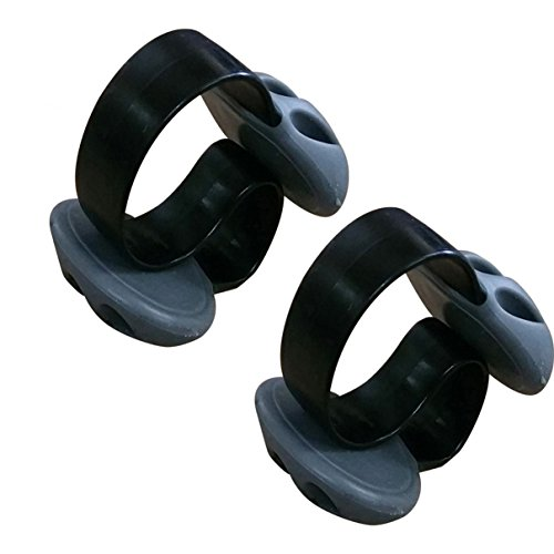 Condello Casa icke-självhäftande vikt skrivbord kabel droppklämma silikon skrivbord organiserare små linjer slipsar fixering prydlig bordsskiva kabelhållare klämma kabelhanteringssats för hemmakontor 11CM LX6CM WX4CM H Svart 2st