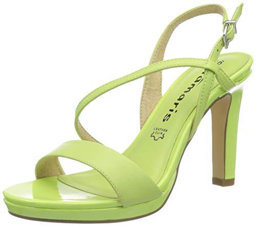 Tamaris 1-1-28077-34, Sandali con Tacco Donna, Lime Neon, 38 EU