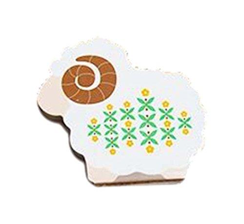 10 pedazos de forma linda de las ovejas del zodiaco creativo Notas pegajosas/cojín de rasguño