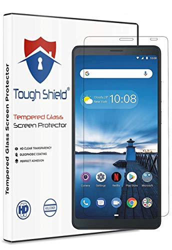 TOUGH SHIELD® 0.3 mm Flexible 9H Gorilla Glass Scratch Shock Proof Tempered Glass Screen Protector Shield for Lenovo Tab V7 6.9 inch Screen Size (Pack of 1)