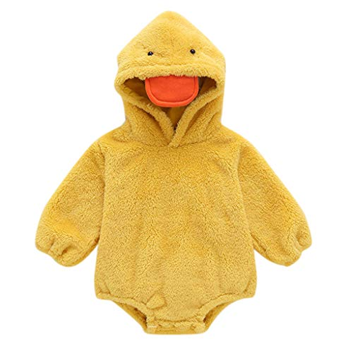 Unisex Baby Romper Infant Onesie 3D Animal Jumpsuit Christmas Costume Winter Thick Snowsuit Hoodie Outfit Bunting