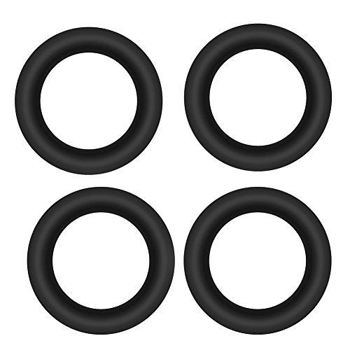 Tihebeyan 100 STÜCKE Gummi Angelring Connect Ring Hohe Elastizität für Bissanzeiger Angelrute Stecker Zubehör Angelgerät