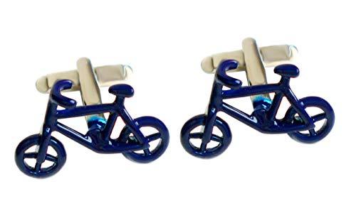Unbekannt Manschettenknöpfe Fahrrad Rad Blauer Lack ca. 2,3 cm breit + dunklerGeschenkbox