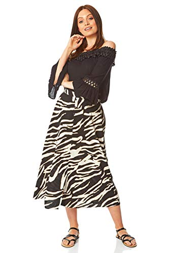 Romeinse Originelen Vrouwen Zebra Print Rok - Dames Animal Print Potlood Business Formele Werkkleding Office Een lijn Uitgerust Korte Afslanken Vakantie Casual knie Lengte Buis Rokken