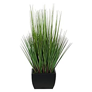 Artificial 27″ Grass in Small Rectangle Zinc (Black)
