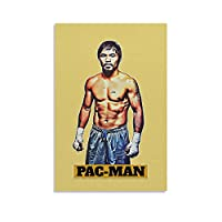 スポーツポスターボクシングファイティングプレーヤーマニーパッキャオ10ポスター装飾絵画キャンバスウォールアートリビングルームポスター寝室キッチン装飾絵画12x18インチ(30x45cm)