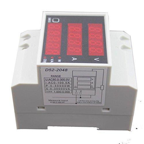 D52-2048 Digitalen DIN-Schiene Stromspannung Leistungsmesser Amperemeter Voltmeters