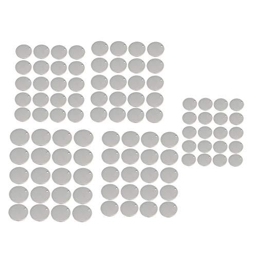 B Blesiya 100 Unidades Planas Metálicas Círculo