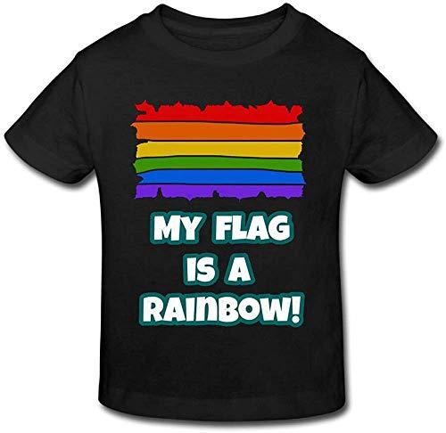 Mon Drapeau est Un t-Shirt à Manches Courtes bébé Arc en Ciel XL