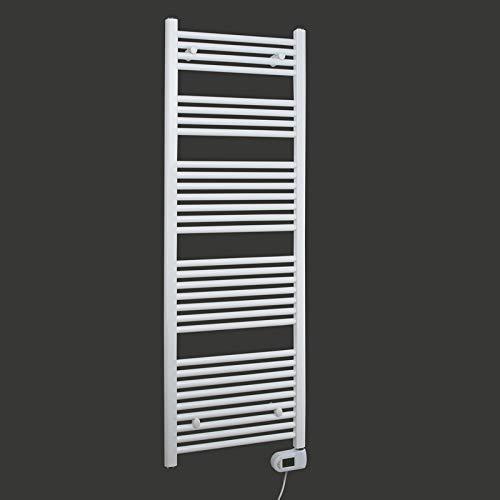 SixBros. Elektrischer Badheizkörper Breite: 500 mm Gerade Weiß R01E