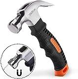Hammer, TACKLIFE Mini Klauenhammer, ergonomischer Griff mit weichem Gummi, mit magnetischem und...