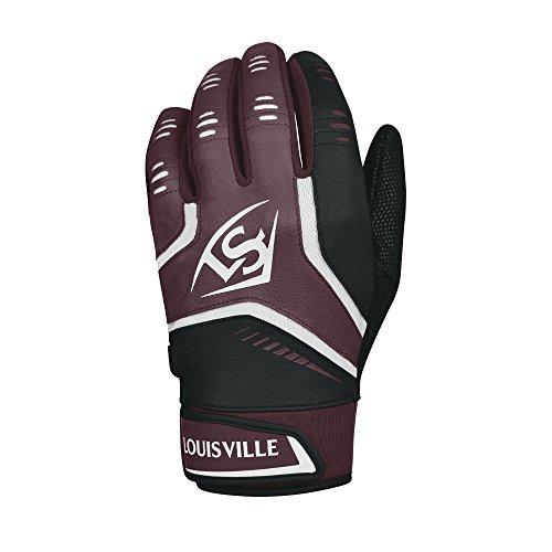 Louisville Slugger Omaha Adult Batting Gloves - XX-Large, Maroon