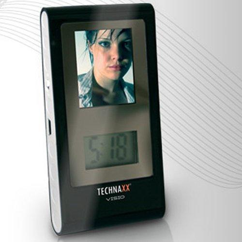 Technaxx Visio Digitaler Mini Fotorahmen (4,6 cm (1,8 Zoll) Display ) schwarz