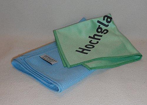 ProWin Hochglanzzauber & Glanz- und Poliertuch 45 cm x 40 cm