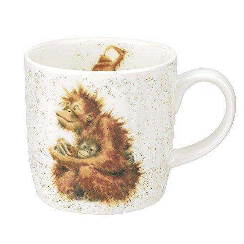 Portmeirion Home & Gifts Orangutangle Orang-Utan Tasse, Knochenporzellan, Mehrfarbig, 8 x 12 x 8 cm