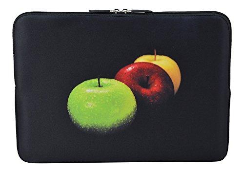 MySleeveDesign Laptoptasche Notebooktasche Sleeve für 10,2 Zoll / 11,6-12,1 Zoll / 13,3 Zoll / 14 Zoll / 15,6 Zoll / 17,3 Zoll - Neopren Schutzhülle mit VERSCH. Designs - Colored Apple [15]
