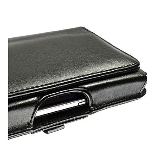 DFV mobile - Belt Cover Premium Executive Synthetic Leather Horizontal Design And Clip Metal Compatibile con ZOPO ZP998, ZP998 C2 II - Black