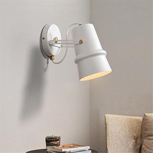 Atmko®Applique Murale Mur Lumière Intérieur Moderne Blanc Couleur Fer Forgé Applique Murale Lampe Applique Lumière Décorative Lumière Réglable E27 Luminaire Pour Salon Chambre Lumière Couloir Lumière