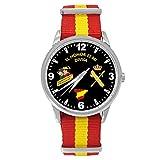 Reloj Guardia Civil Sumergible Esfera Negra Correa Bandera España