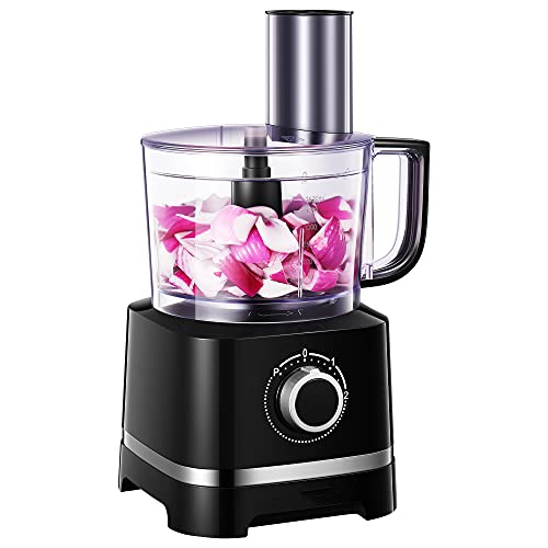 Robot de cocina, 12-Cup procesador de alimentos multifuncional cuatro en uno de, 700 W