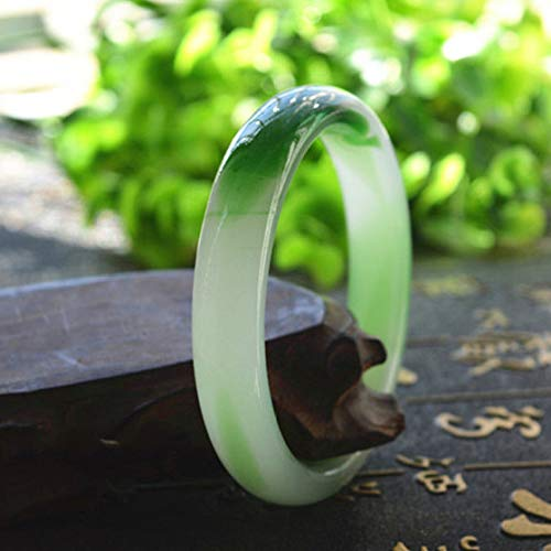 Kunze Natural jade bangles, women's bracelet, green jade bracelet, jewelry, best gift for women, with gift box 58-63mm