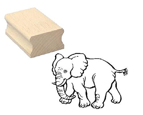 Stempel niedlicher ELEFANT - Motivstempel aus Buchenholz