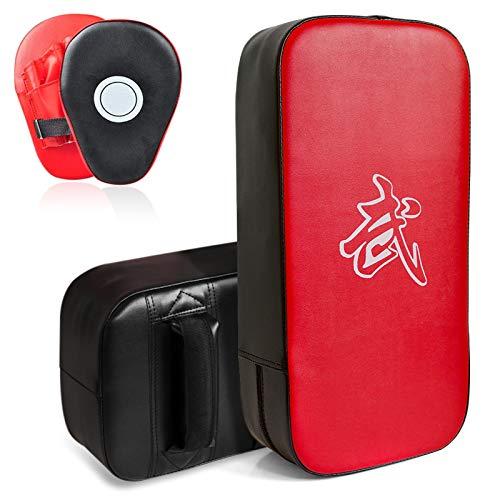 DEWEL Set de Boxeo Entrenamiento - Paos Boxeo Entrenamiento Almohadillas de Impacto de Boxeo, Manoplas de Poliuretano