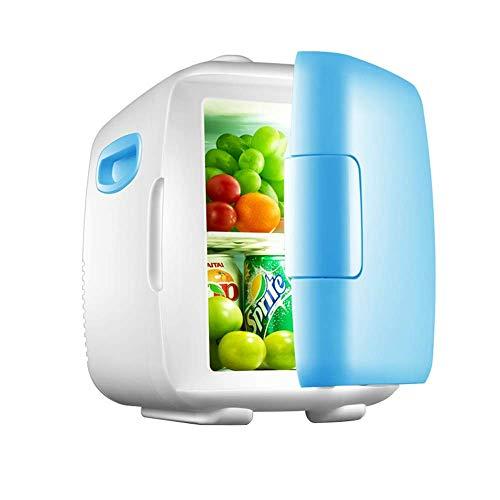Mini refrigerador compacto refrigeradores, silencio silencioso del hogar del coche con el congelador para acampar actividades al aire libre azul
