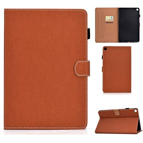 YDYX AYDD For Galaxy Tab S5e T720 Solid Color Tablet PC Universal Magnetic Horizontal Flip Leather Case with Card Slots & Holder (Color : Brown)