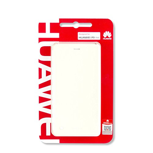 Huawei P9 Lite Flip Cover - Funda pficial para Huawei P9 Lite, blanco