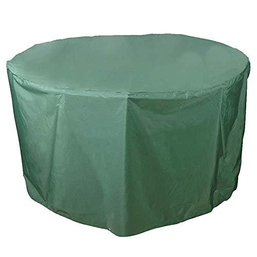 SFSGH Cubierta Circular para Muebles de jardín, Tela Impermeable a Prueba de Polvo PEVA, Cubierta Redonda para Mesa de Patio, Cubierta para Muebles de Exterior, Verde, 140 cm x 95 cm