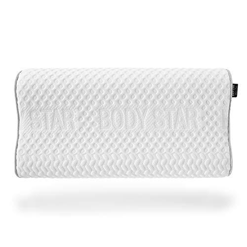 Body-Star Pillow Classic line Nackenstützkissen 60 x 32 x 10 cm TÜV Zertifiziert anschmiegsamer Gelschaum für alle Liegetypen geeignet Oeko-TEX 100 TÜV Zertifiziert Kissen