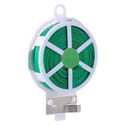 Ounona Lot de 50 câbles torsadés avec revêtement en plastique Vert