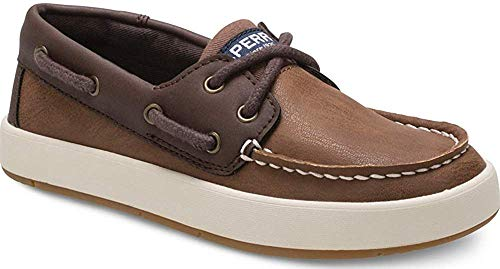 Sperry Kids Boy's Cruise Boat (Little Kid/Big Kid) Chestnut/Brown 4 Big Kid M