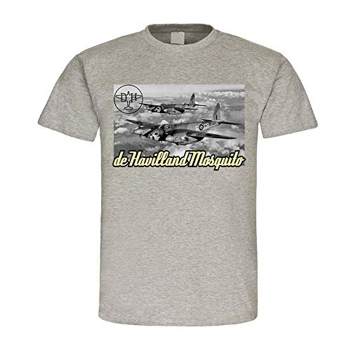 De Havilland Mosquito vliegtuig jachtbomber Engeland Royal Air-Force Great Britain Bomber jager pilot T-shirt # 24001
