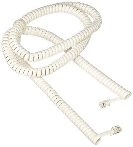 RCA 25 feet Handset Coil Cord, White (TP282W)