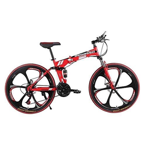 Ping Erwachsene Mountainbikes, Falträder aus Kohlenstoffstahl, 21-Gang-Doppelscheibenbremsen, vollgefederte 26-Zoll-Mountainbikes