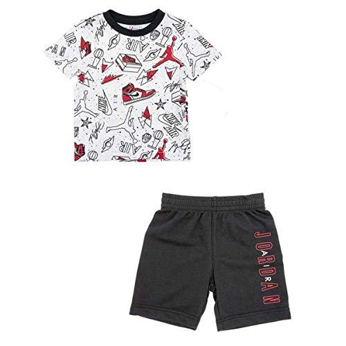 Jordan Completo t-Shirt e Bermuda Nike Bambino Bambino Black 85A398 6A/116cm