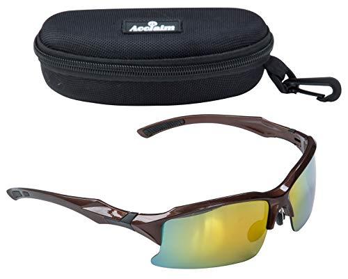 Titan-Cricket-Brillen, Sonnenbrille, bronzener und schwarzer Rahmen aus Kunststoff, Regenbogengläser, Bronze/Black
