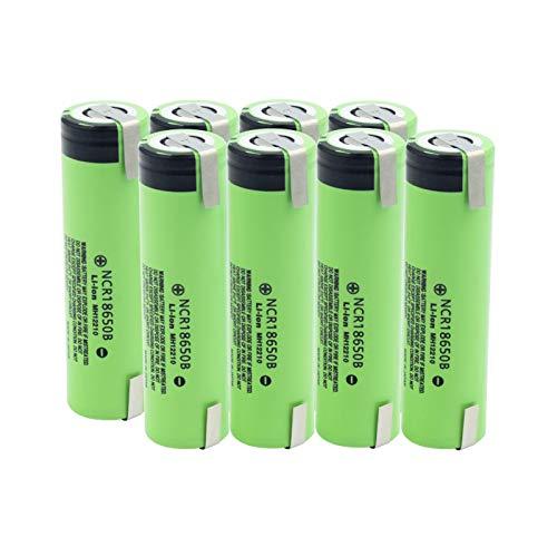 NHFGJ 3.7v 18650 Cargador De Batería Inteligente 3400mah Ncr18650b Batería con 2 PestañAs De Alto Drenaje 20a Cigarrillo ElectróNico De Litio 8PCS