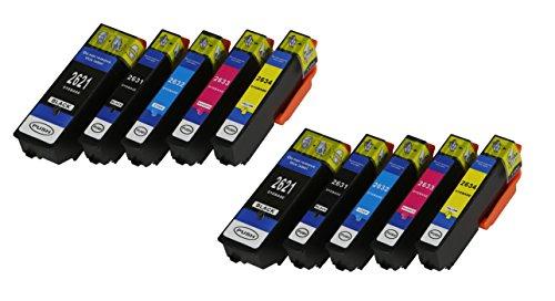 10 XL Druckerpatronen mit CHIP und Füllstandanzeige für Epson Expression Premium XP-510, XP-520, XP-600, XP-605, XP-610, XP-615, XP-620, XP-625, XP-700, XP-710, XP-720, XP-800, XP-810, XP-820