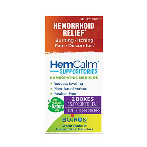 Boiron Hemcalm Hemorrhoid Relief 20 Suppositories...