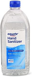 Equate Hand Sanitizer kills 99.99% germs With Vitamin E, 60 Oz