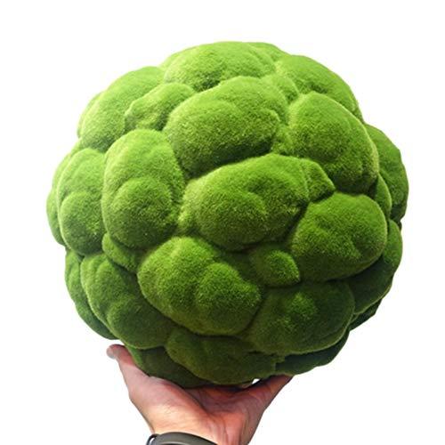 1PCS Simulation Mooskugel Dekoration, Einzigartige Living Grüne Kugelförmige Pflanzen, Deckendekoration Moss Balls, Haltbar, Garten Puppenhaus Ornament Terrasse Dekoration