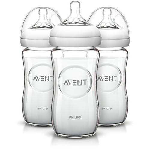 Philips Avent - Bottiglia in vetro naturale, 8 ounce (confezione da 3)