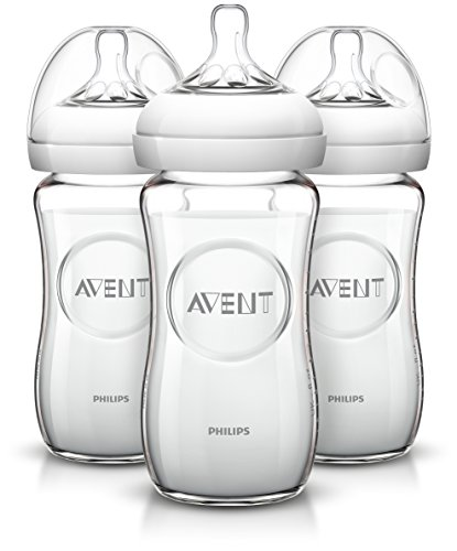 Philips AVENT Natural Glass Bottle, 8 Ounce (Pack of 3) by Philips AVENT