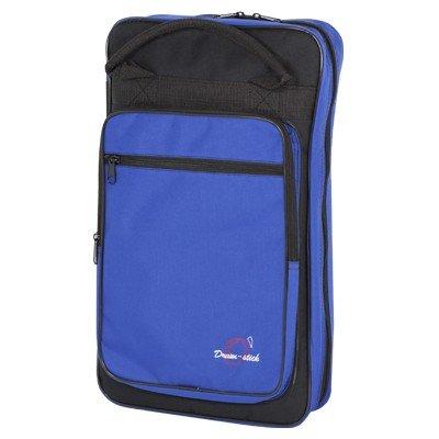 Ortola 6509-031 - Funda baqueta batería, 8 compartimentos, color negro y azul